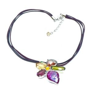 SWAROVSKI~heritage~CRYSTAL FLOWER CHOKER NECKLACE